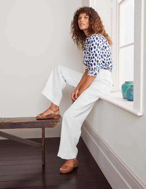 Eldon Linen Pants - White