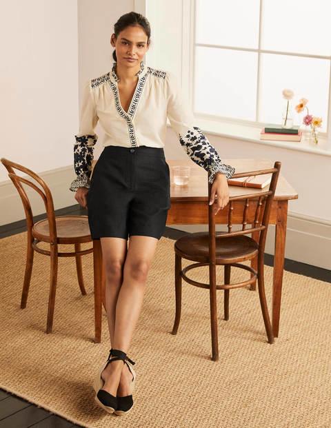 Cornwall Linen Shorts - Black