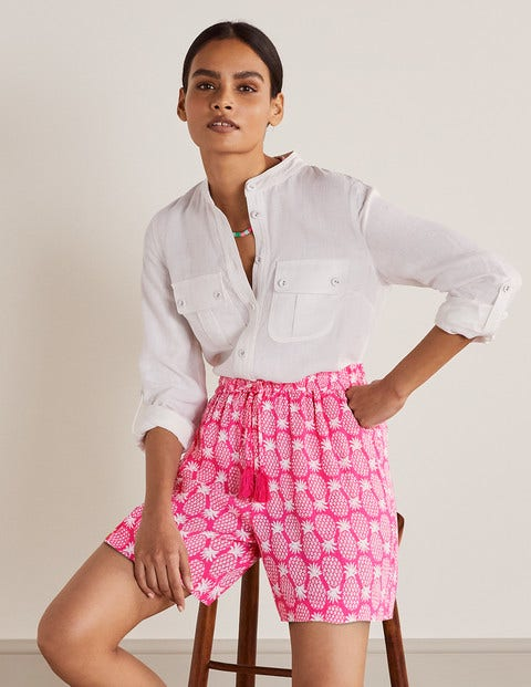 Bembridge Shorts - Party Pink, Pineapple Geo