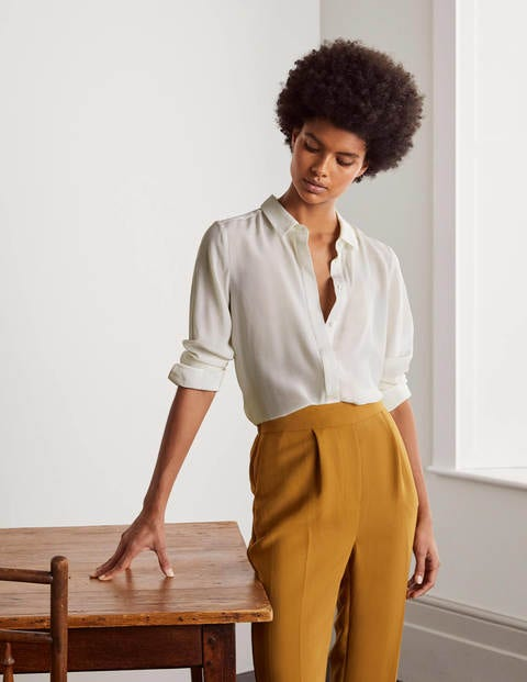 The Silk Shirt - Ivory