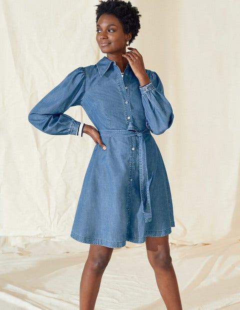 Charlotte Shirt Dress - Mid Vintage Denim