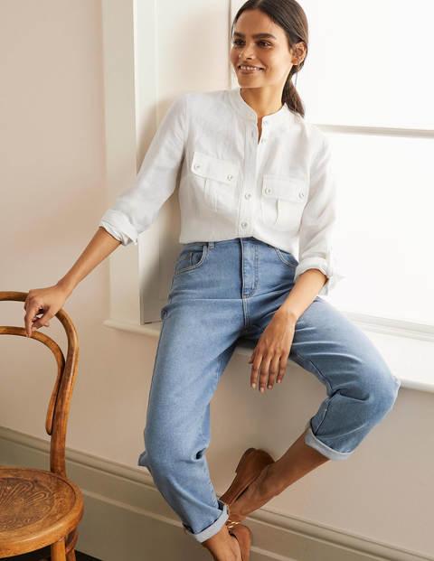 Dolores Linen Shirt - White