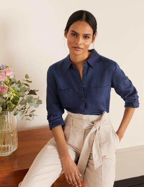 Linen Shirt - Navy