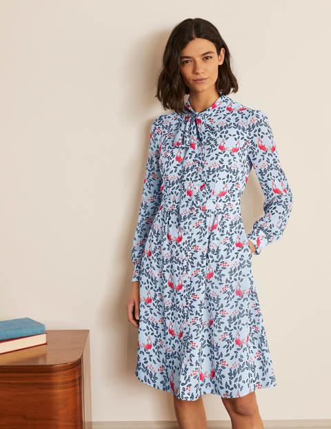 Sylvia Shirt Dress - Surf, Parrot Paradise