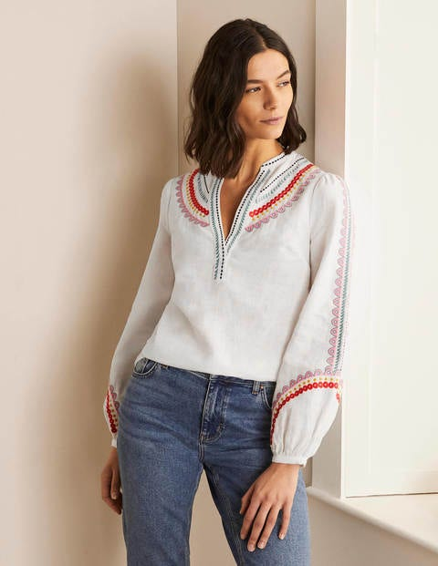 Eden Embroidered Top - White
