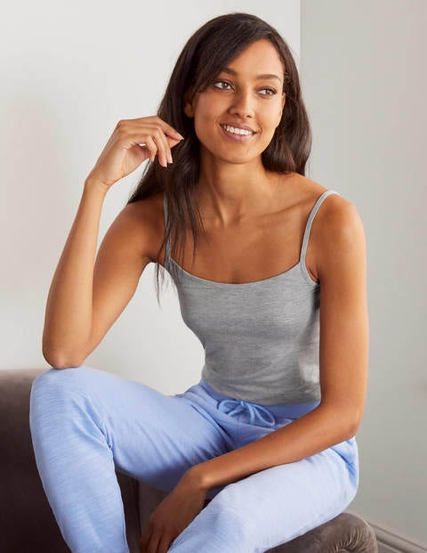 Plain Cami - Grey Marl