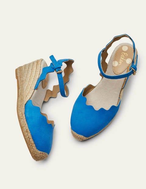 Nadine Espadrille Wedges - Moroccan Blue
