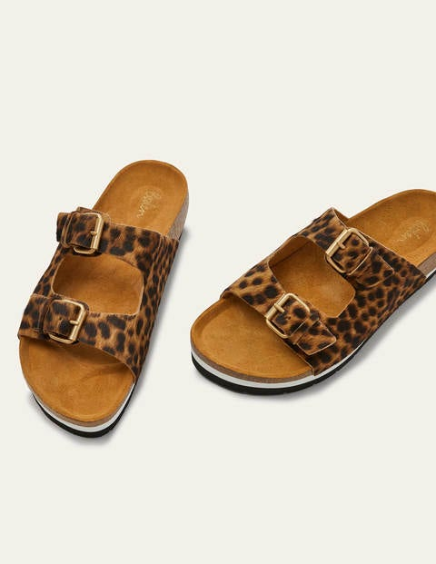 Ottoline Sandals - Tan Leopard
