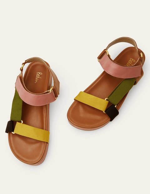Philomina Sandals - Tan Colourblock