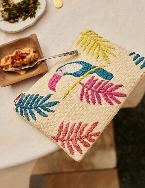 Embroidered Raffia Keepsake