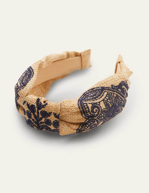 Twist Headband - Navy