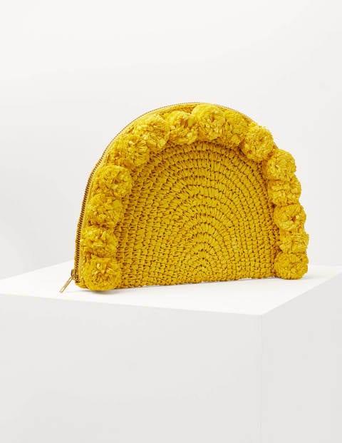 Christina Crochet Clutch - Daffodil