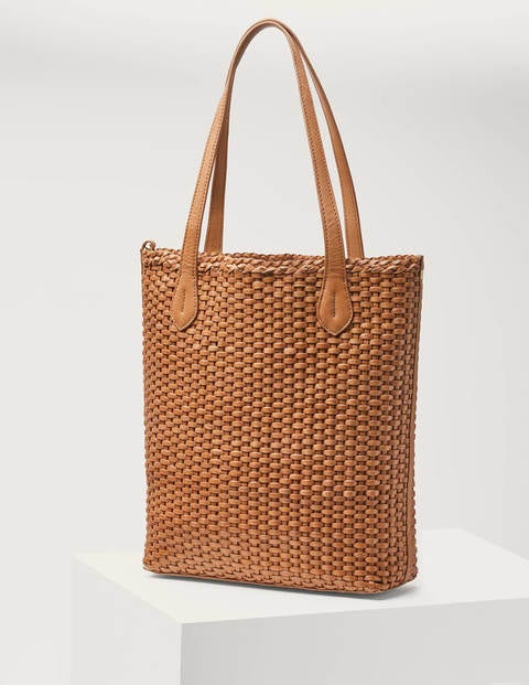Cleo Woven Leather Tote