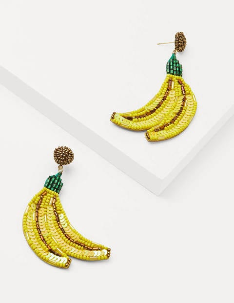 Embellished Earrings - Banana Yellow