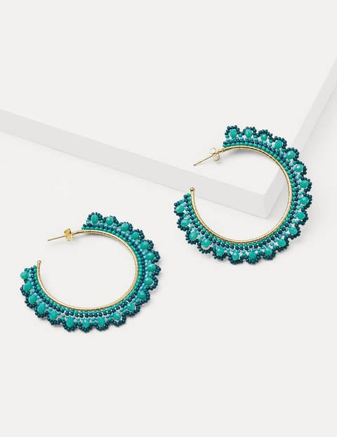 Bead Detail Hoops