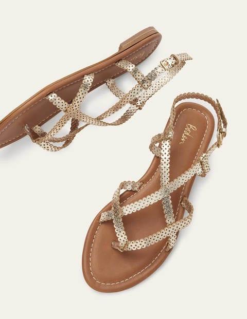 Deborah Strappy Sandals - Gold