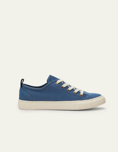Freya Low Top Trainers - Blue Chambray