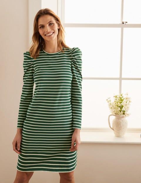 Imogen Breton Dress - Palm Leaf/Ivory