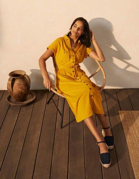 Thomasina Jersey Shirt Dress - Tuscan Sun