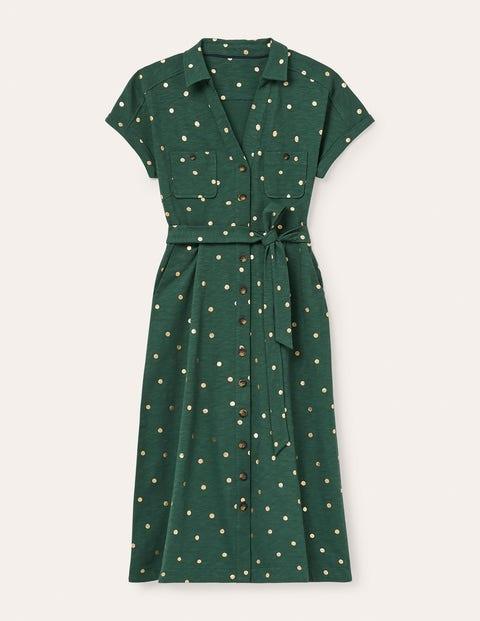 Thomasina Jersey Shirt Dress