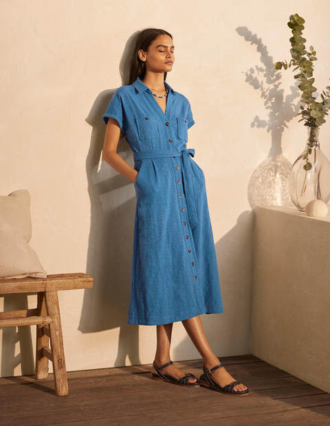 Thomasina Jersey Shirt Dress