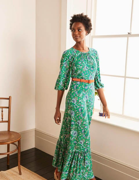 Tia Jersey Maxi Dress - Sapling, Enchanted Garden