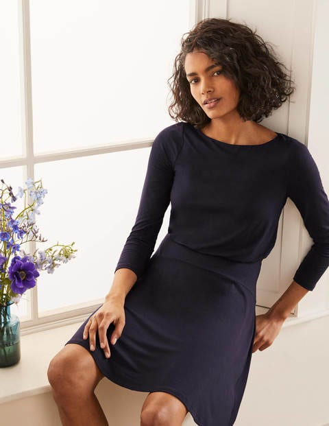 Nellie Jersey Dress - Navy