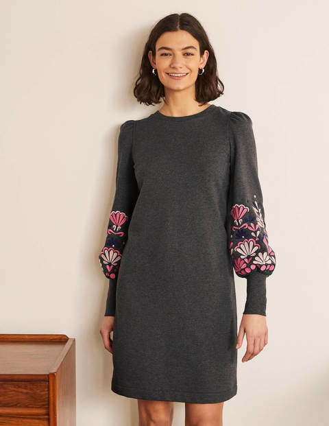 Romona Sweatshirt Dress - Charcoal Marl