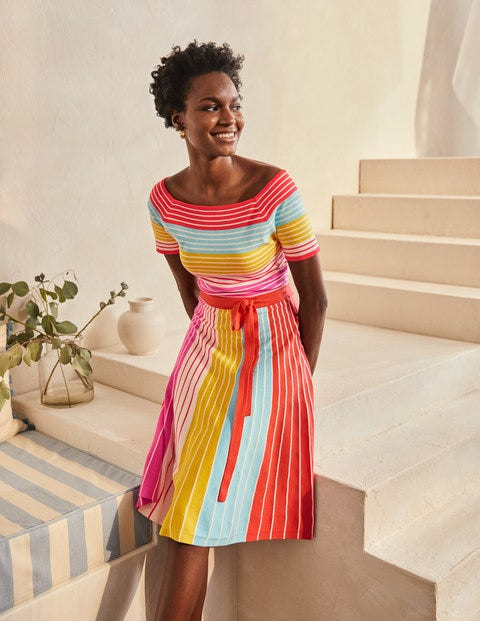 Aida Dress - Multistripe