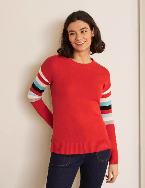 Lennox Relaxed Sweater - Cherry Red