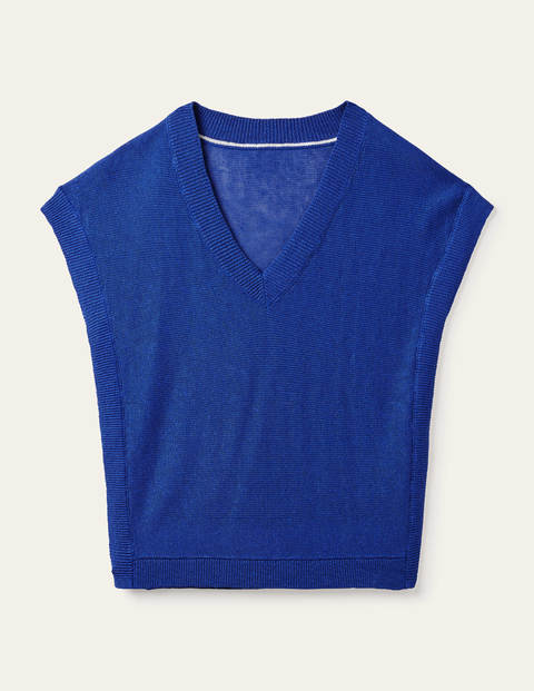 Anglesey Geripptes T-Shirt aus Leinen