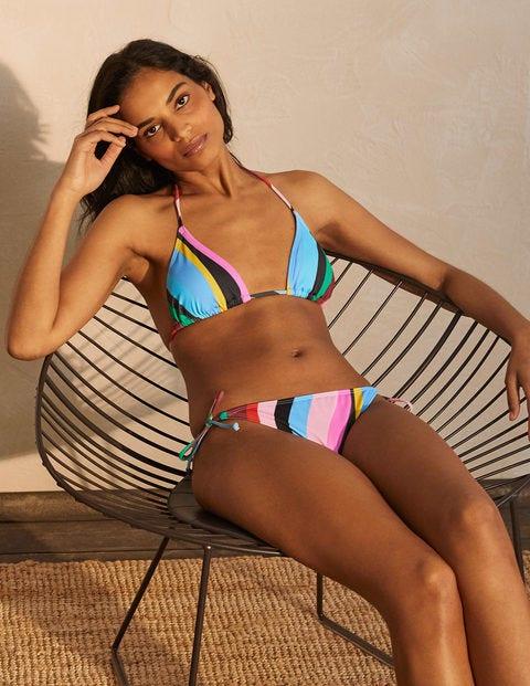 Bikinioberteil mit Bändern - Chartreuse, Mustique Wave