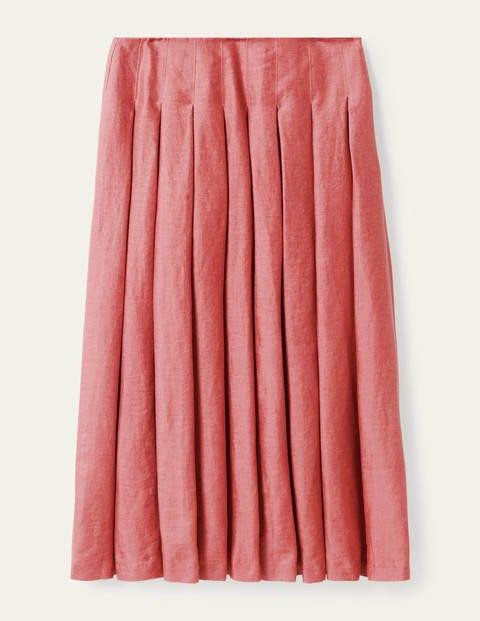 Lydia Linen Pleated Skirt