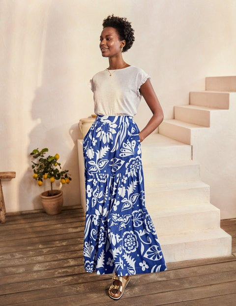 Lorna Tiered Maxi Skirt - Summit, Garden Tropic