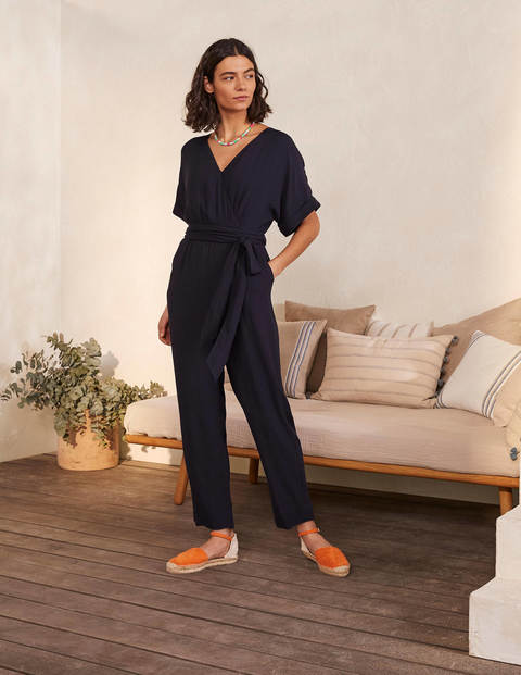 Alice Wrap Jumpsuit - Navy