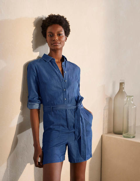 Cosima Playsuit - Chambray