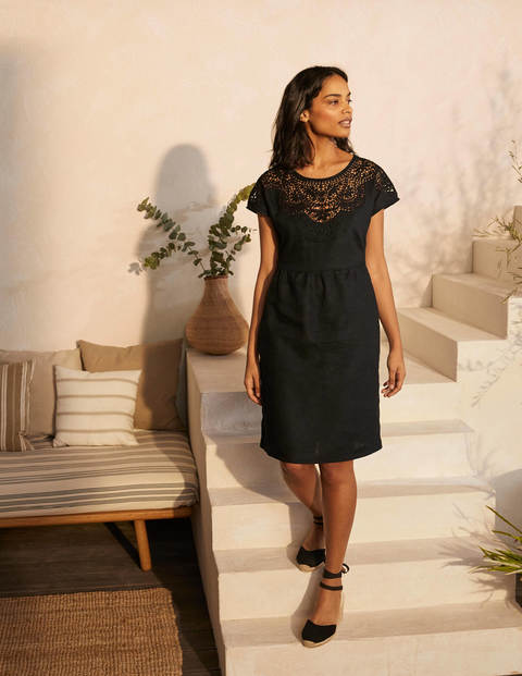 Fleur Embroidered Linen Dress