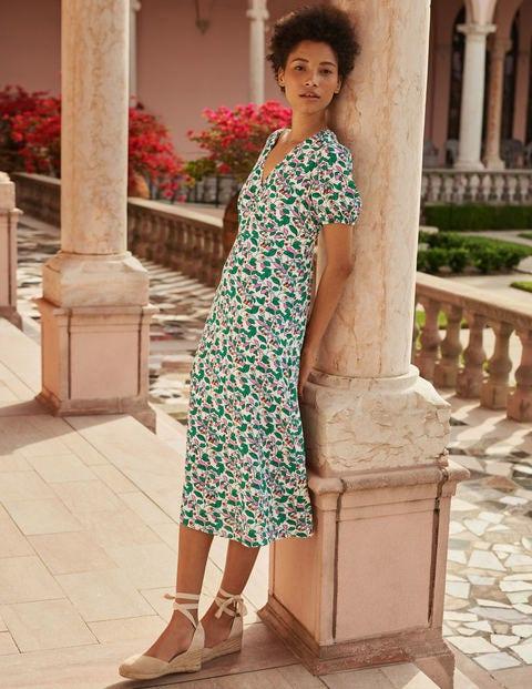 Tessa Midi Dress - Ivory, Orchard