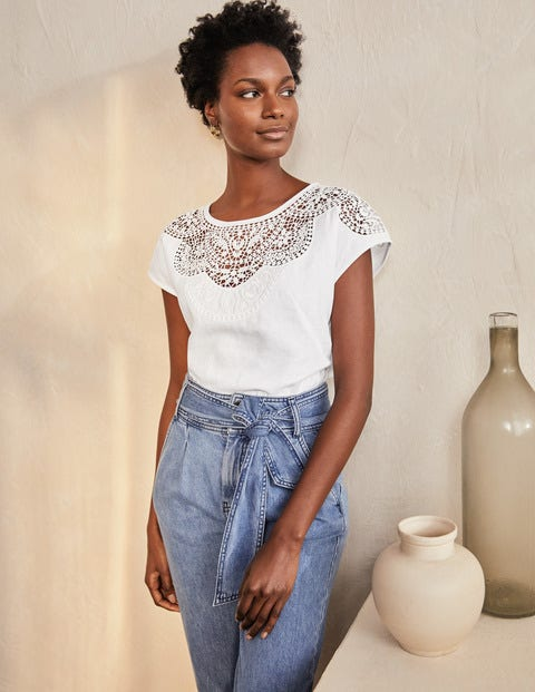 Fleur Embroidered Linen Top