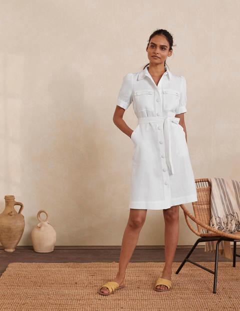 Carrie Linen Shirt Dress