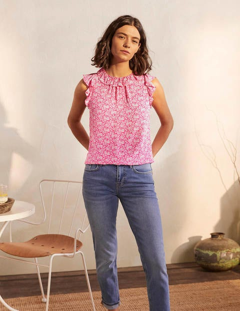 Helen Top - Party Pink, Exotic Palm