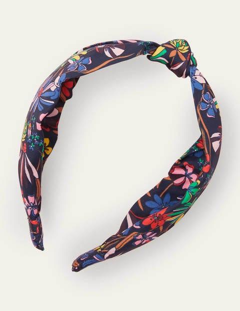 Knotted Headband - Black, Wild Dandelion