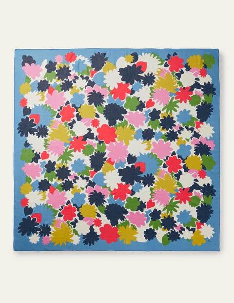 Print Scarf - School House Blue, Paintbox