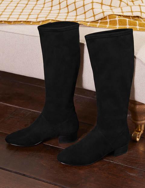 Flat Stretch Boots - Black