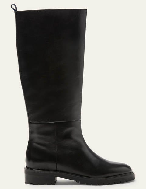 Chunky Pull-on Knee Boots