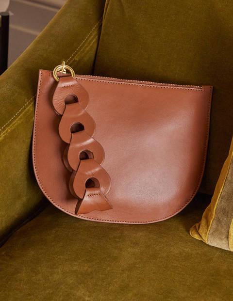 Link Detail Clutch Bag - Tan