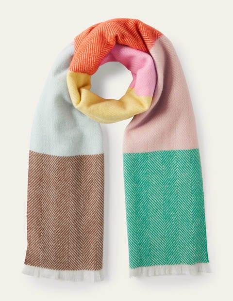 Woven Wool Scarf - Multi Stripe