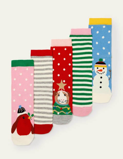 Five Pack Crew Socks