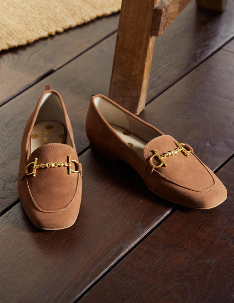 Snaffle Loafers - Tan Suede