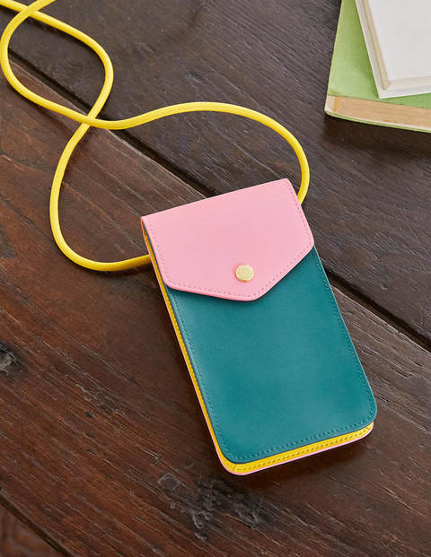 Crossbody Phone Bag - Deep Forest/Formica/Wasp